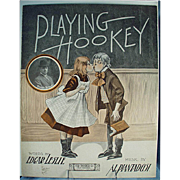 Vintage Sheet Music- Playing Hookey - Cute Graphics