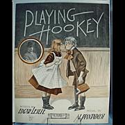 Vintage Sheet Music- Playing Hookey - Cute Graphics