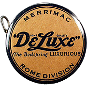 Vintage, Celluloid Tape Measure Advertising DeLuxe Bedsprings