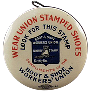 Vintage, Advertising Tape Measure - Boot and ShoeWorker's Union, Celluloid