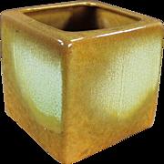 Vintage Frankoma, Cube Vase - Early 1950's