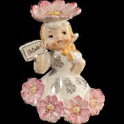 Vintage, Flower Girl Porcelain for the Month of October