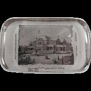 SOLD Vintage, Glass Paperweight - W.VA. & World's Fair Souvenir - Libbey Glass Co.