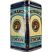 Vintage, Monarch Cocoa, Sample Tin - Nice Graphics