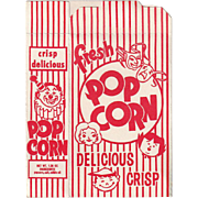 Vintage, Striped Popcorn Box - Never Used