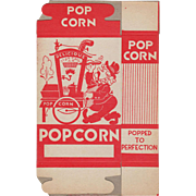 Vintage Popcorn Box with Popcorn Vendor Graphics - Never Used