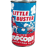 Vintage Popcorn Tin - Little Buster - Full, Never Opened