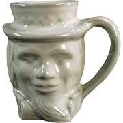 Vintage Frankoma -  Uncle Sam Mug in White Glaze