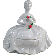 Vintage, Porcelain Dresser Box - Lady in White - Kaldun & Bogle