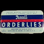 Vintage Medicine Tin - Rexall Orderlies Laxative