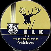 Vintage, Miller-Elk, Typewriter Ribbon Tin