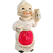 Vintage, Mrs. Claus, Christmas Candle Holder