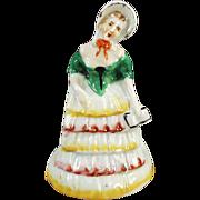 Vintage Napkin Ring, Figural Porcelain - Southern Belle
