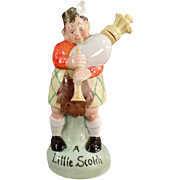 Vintage S & V Figural Flask - Scottish Bagpipe Player with Original Stopper