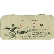 Vintage, Ghirardelli's Cocoa Advertising - Celluloid Game Counter