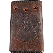 Vintage, Masonic, Leather Car Key Case