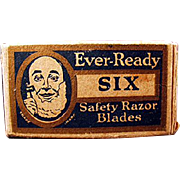 Vintage, Ever-Ready Razor Blade Box with One Original Blade