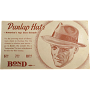 Vintage Ink Blotter - Men's Fashions, Dunlap Hats