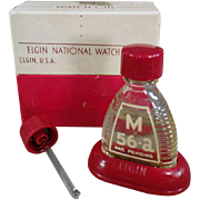 Vintage Watch Oil Bottle - Elgin M-56a with Original Packaging
