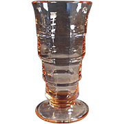 Old, Soda Fountain Malt Glass - Pink Paden City - 4 Available