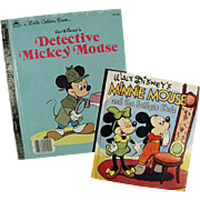 Old Mickey Mouse & Minnie Mouse Books - 2 Different Stories