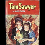 Vintage Book - Tom Sawyer by Mark Twain - 1955 Whitman Publishing Co.