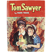Vintage Book - Tom Sawyer by Mark Twain - 1955 Whitman Publishing Co.