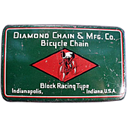 Vintage Bicycle Chain Tin - Diamond Brand