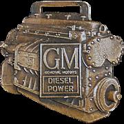 Vintage Watch Fob Advertising GM Diesel Power