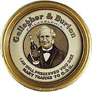 Vintage, Advertising Tip Tray - Gallagher & Burton Whiskey
