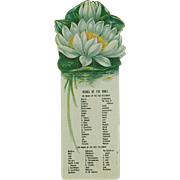 Vintage Celluloid Bookmark with the Books of the Bible