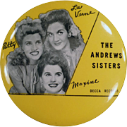 Vintage Record Duster - The Andrew Sisters - Decca Advertising