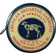 Vintage, Advertising Tape Measure, Celluloid -  American Broadtail