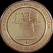 Vintage Frankoma Trivet - Bicentennial, Liberty Bell