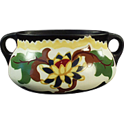 Vintage, Czechoslovakian, Handled Art Pottery Planter