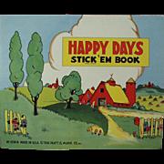 Child's Old Book of Stickers - Happy Days - Platt & Munk