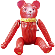 Vintage Celluloid Wind Up Toy - Tumbling Bear - Occupied Japan