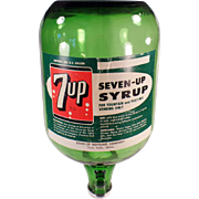 Vintage, 7-Up Soda Fountain Syrup Jug for Fountain Dispensing