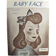 Vintage Sheet Music- Baby Face, Cute Graphics