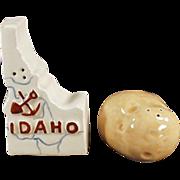Vintage Idaho Souvenir - Salt and Pepper Set with the Famous Potato