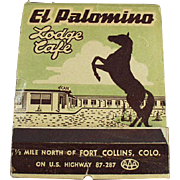 Vintage, Over Sized, Advertising Matchbook - El Palomino Lodge