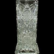 Vintage Straw Holder - Illinois Glass Pattern