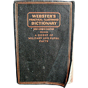 Vintage, Webster's, Practical Illustrated Dictionary ca. 1942