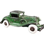Vintage, Cast Iron, Toy Car - Coupe with Rumble Seat - Large Size