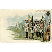 Vintage Postcard - French Relief Troops