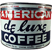 Vintage, Key Wind Coffee Tin - 1 # American DeLuxe