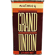 Vintage Spice Tin - Grand Union, Nutmeg