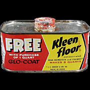 Vintage, Kleen Floor Tin by Johnson's Wax