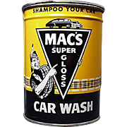 Vintage, Mac's Automotive Car Wash Tin