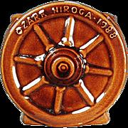 Vintage Frankoma, Souvenir Sugar - Wagon Wheel Pattern